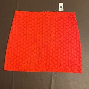 Gap Orange Skirt